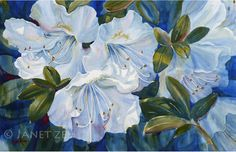 Image result for white flowers painting