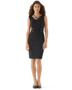 White House | Black Market Buckle-Accent Sheath #whbm $150 - LOVE this!