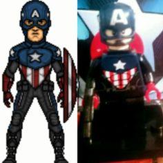 Bucky cap moder lego Bucky, Legos, Cap, Fictional Characters, Baseball Hat, Lego, Fantasy Characters, Logos