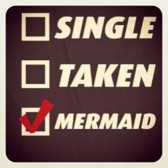 Single? No... Taken? No... Mermaid? Yes! #finfun #mermaids #mermaidtail www.finfunmermaid.com