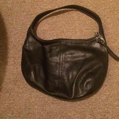 Coach black leather purse Classic black leather coach purse. Gently used but in good shape! Coach Bags Shoulder Bags