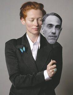 Derek Jarman and Tilda Swinton. Collaborations include Blue and Caravaggio.