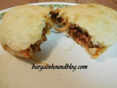 Easy Sloppy Joes using 3 ingredients:  1 can of Manwich sauce 1 can of Grands biscuits 1 pound of ground beef
