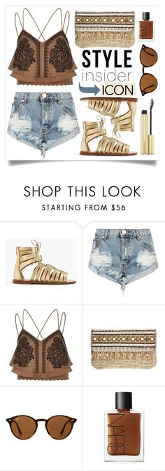"""""""Style Insider"""" by alaria ❤ liked on Polyvore featuring J.Crew, One Teaspoon, River Island, Skemo, Ray-Ban, NARS Cosmetics, Kevyn Aucoin, contestentry, laceupsandals and PVStyleInsiderContest"""