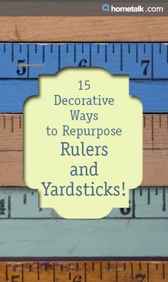 15 Decorative Ways to Repurpose Rulers and Yardsticks! New Crafts, Craft Stick Crafts, Crafts To Do, Creative Crafts, Diy Wood Projects, Diy Craft Projects, Wood Crafts, Ruler Crafts, Yard Sticks