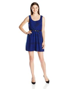 Amazon.com: As U Wish Juniors Textured Knit Tank Dress: Clothing