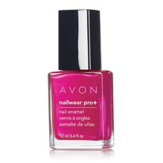 Nailwear Pro+ Nail Enamel is your pretty little secret to this season's hottest nails. 12 days of lasting color. Increases nail strength by 80%. High-shine finish resists dings, bangs and nicks. No formaldehyde, toluene or phthalates. .4 fl. oz.