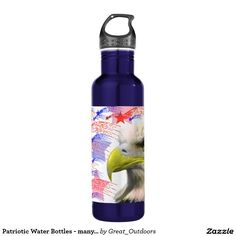Patriotic Water Bottles - many colors available