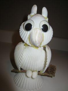 seashell owls | seashell owl. | Sea Shells and Shell figurines