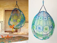 Knotted Melati hanging chair...get inspired!!