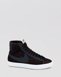 Nike Sneakers Lace Up High Top Sneakers Women s Blazer Mid Mesh Nike