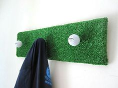 Golfball coat hanger upcycle