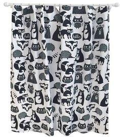 Pillowfort Forest Friends Shower Curtain Ebony Opaque