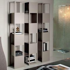 Top 20 Creative Bookshelf Design from Modern and Modular for You: Elegant Minimalits Design Creative Bookshelves Like Building Tower ~ flohomedesign.com Ideas Inspiration