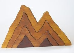 Wood Toy- Large Wooden Mountain Range Stacker Toy- Waldorf- Nature Table. $25.00, via Etsy.