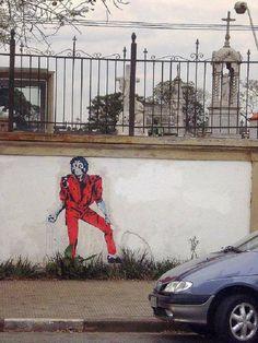 #MichaelJackson Street Art, #Thriller São Paulo, Brazil 2014 #MJAPWNN #DENoName
