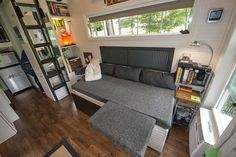 A tiny house on wheels in Eads, Tennessee. Built by Tennessee Tiny Homes