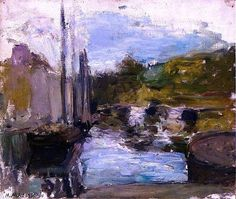 Henri Matisse - Brittany (also known as Boat), 1896. Oil on canvas, 38 x 46 cm. Private Collection