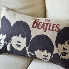 Forever Beatles Print Decorative Pillow-I AM WORKING ON A BEATLES QUILT RIGHT NOW..