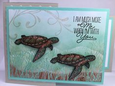 """http://www.stampinup.com/ECWeb/ProductDetails.aspx?productID=139361&dbwsdemoid=2158591 Created with Stampin Up """"From Land to Sea"""", """"Layering Love"""" & """"Everything Eleanor"""" Inspired by Wendy Lee"""