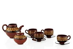 Vintage Bulgarian Espresso Set Bulgar's founder Donna Hadjipopov discovered this vintage espresso set during her travels in Bulgaria. Purchasing the entire early production from the widow of a master potter, it is 50 years old and has never been used.