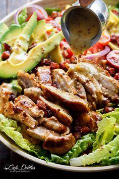 Really nice recipes. Every hour. • HONEY MUSTARD CHICKEN BACON + AVOCADO SALAD Really...
