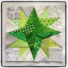 My paper piecing Monday block was a little late this week.  #paperpiecingmonday