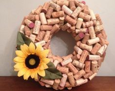 Items similar to Wine Cork Bulletin Board  // Get organized with repurposed pallet wood and wine corks on Etsy