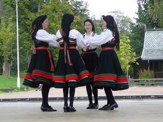 Norwegian folk dancers Norway Culture, Norwegian Clothing, European Costumes, Kristiansand, Norway Travel, Folk Dance, Beautiful Costumes, Traditional Fashion, Folk Music