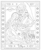 ~ This site has some gorgeous free coloring pages for children, such as the Stations of the Cross, Saints, Guardian Angel, the Rosary decades, pictures of different titles of Mary....absolutely beautiful to make into a booklet for meditation!