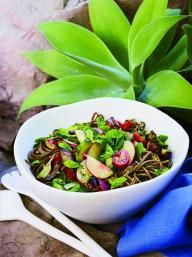 Soba Noodle Salad with Pesto and Grilled Eggplant | KitchenDaily.com