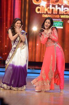 Madhuri Dixit and Katrina Kaif performing on Chikni Chameli