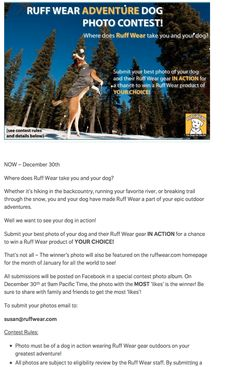 Facebook photo competition instructions.