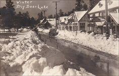 RP: Main Street , Winter , Big Bear Lake , California, 30-40s Drug Store