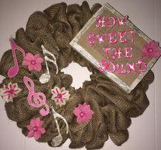 Burlap Musical Themed Wreath!