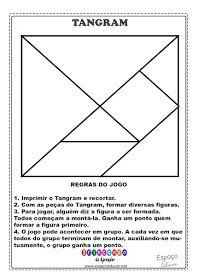 Tangram Para Imprimir Sugestoes De Montagem E Regras Do Jogo