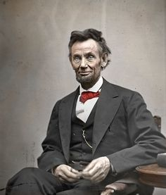 Today we feature a portrait of President Abraham Lincoln. It was on this day, April in the year 1865 that Abraham Lincoln walked the str. American Presidents, Us Presidents, American Civil War, American History, Greatest Presidents, Native American, Colorized History, Colorized Photos, Abraham Lincoln