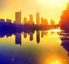 The Austin Skyline from Lou Neff Point on a warm sunny day @Mandy Dewey Seasons Hotel Austin #capturetx