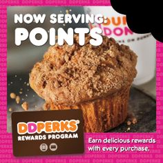Earn 5 points for every dollar you spend on qualifying purchases when you pay with your enrolled DD card! Click pin for more details on DD Perks.
