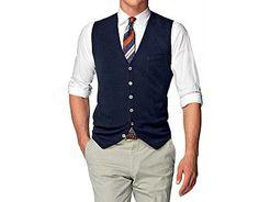 "Suitsupply Cotton/Cashmere Knit ""Waistcoat"" | Dappered.com"