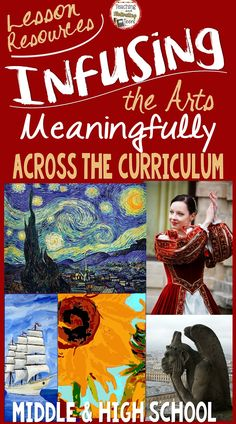 Easy and simple lesson ideas, resources, tips, and virtual field trips! Designed especially for non-art teachers, but it would be an awesome supplement for art teachers as well.   Contents 1. Make Integration Simple and Meaningful for Your Classes. 2. Cross-Curricular Ideas to Incorporate Arts and Humanities. 3. Organized by Content Areas: Web Sites with Lessons, Articles, Virtual Field Trips, etc.  4. Elements of the Arts: Easy Information on Dance, Drama, Music, Visual Arts.