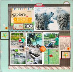 Blessed Scrapper: Gossamer Blue: Explore & Discover the Zoo