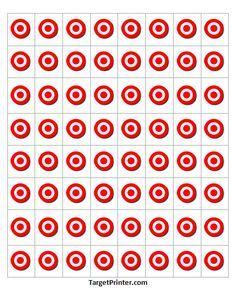 Printable Target 64 Small Bullseye Gun Shooting Range