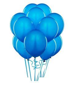 Latex Cyan Blue Balloon Bundle
