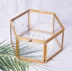 Geometrical Clear Glass Jewelry Box Jewelry Organize Holder Tabletop Succulent Plants Container Home Jewelry Storage Geometrical Clear Glass Jewelry Box Jewelry Organize.