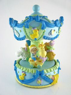 Baby Boy's - MUSICAL HORSE CAROUSEL - MERRY GO ROUND