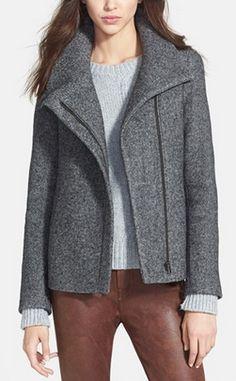 Asymmetrical boucle tweed jacket http://rstyle.me/n/mq26dnyg6