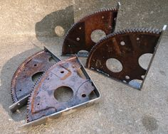 Cool Rusty Engine Gear Shelf Brackets by ScrapyardArt on Etsy