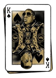 Watch The Throne playing cards illustration of the Kings of Hip-Hop Jay-Z & Kanye West