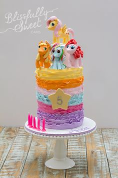 Colorful My Little Pony Birthday Cake